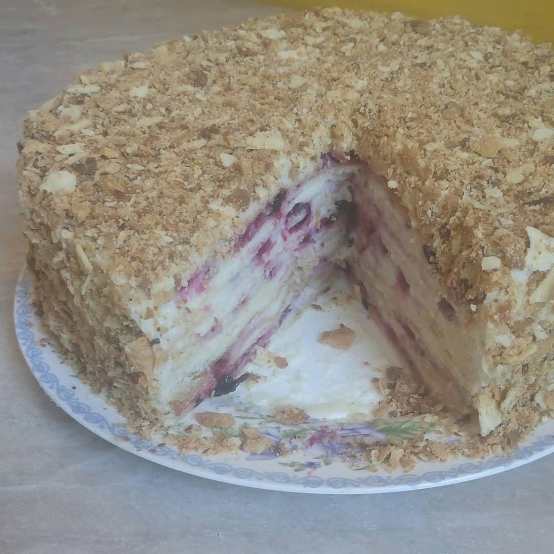 Торт наполеон простой классический рецепт пошагово