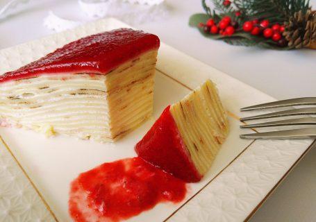 Блинный торт с клубникой рецепт пошагово в домашних