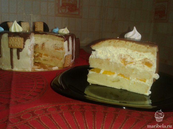 Как сделать торт с йогуртовым кремом 570