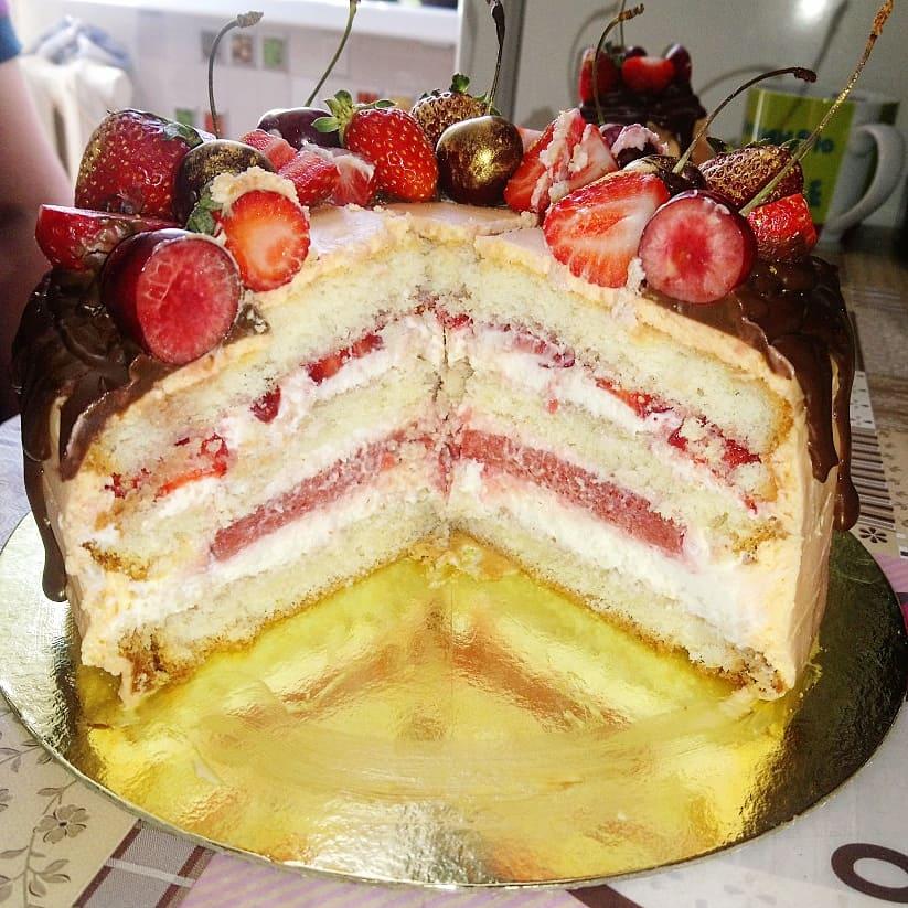 Торт на крестины из крема